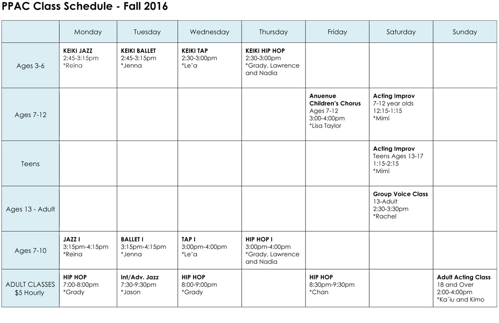 PPAC-Schedule-Fall-2016