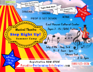 Musical Theatre Summer Camp 2019 @ East Hawaii Cultural Center (EHCC Theatre)