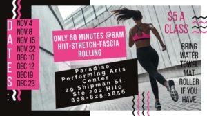 Moms In Momentum HIIT, Stretch, & Fascia Rolling Class